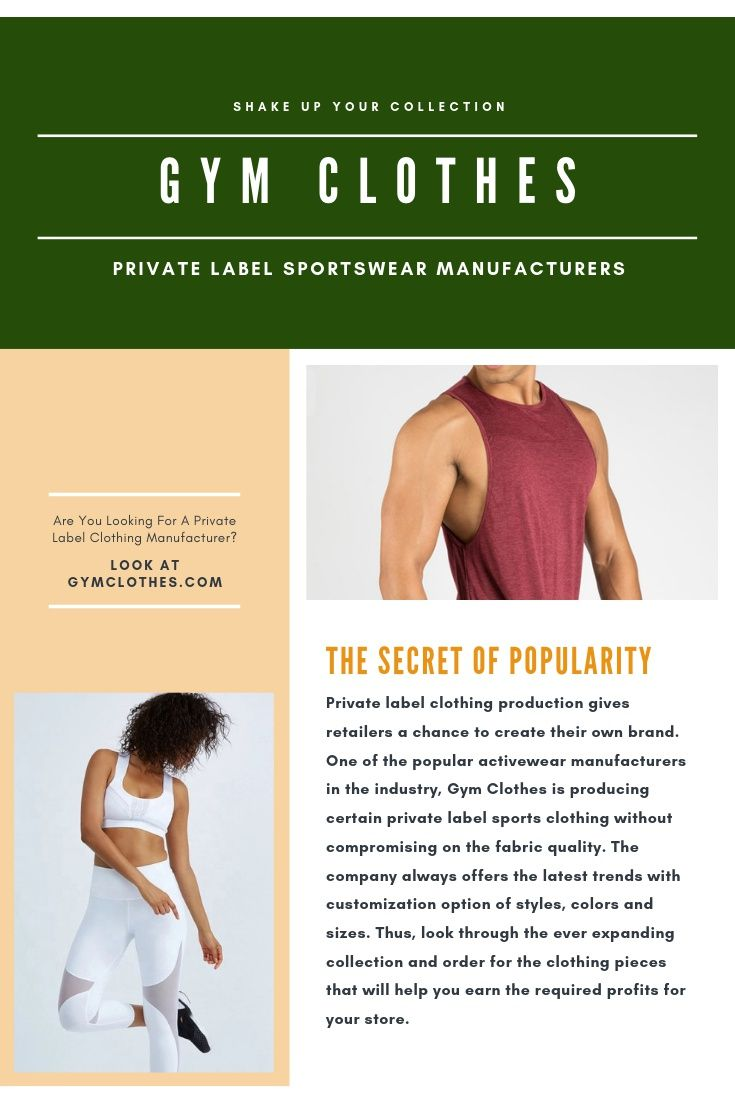 Pin On Private Label Activewear Manufacturers