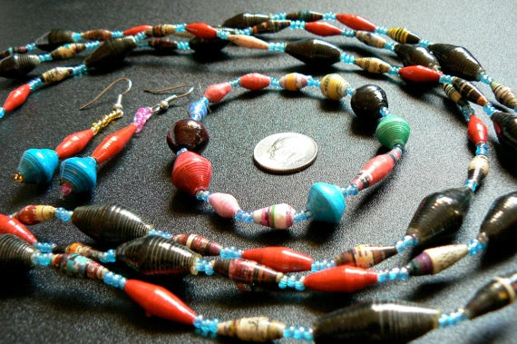 19 best lulu beads images on pinterest fair trade paper beads fair trade paper bead jewelry set bringing hope to african women fandeluxe Choice Image