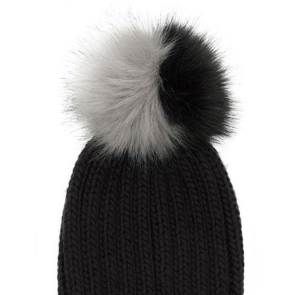 JOSIE POM-POM BEANIE HAT ($15) ❤ liked on Polyvore featuring accessories, hats, faux fur beanie, faux fur bobble hat, bobble hat, pom beanie and pompom hat