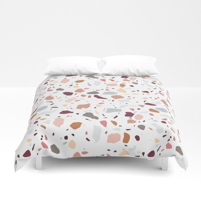 Buy Terrazzo Marble Pattern Duvet Cover By Vectorybelle Worldwide