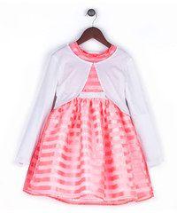 Joe and Ella Fashion Dívčí šaty Polly s kabátkem - růžové