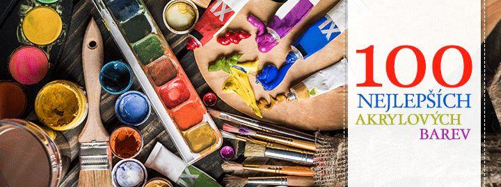 Akrylové barvy pro umělecké potřeby a kreativní tvorbu
