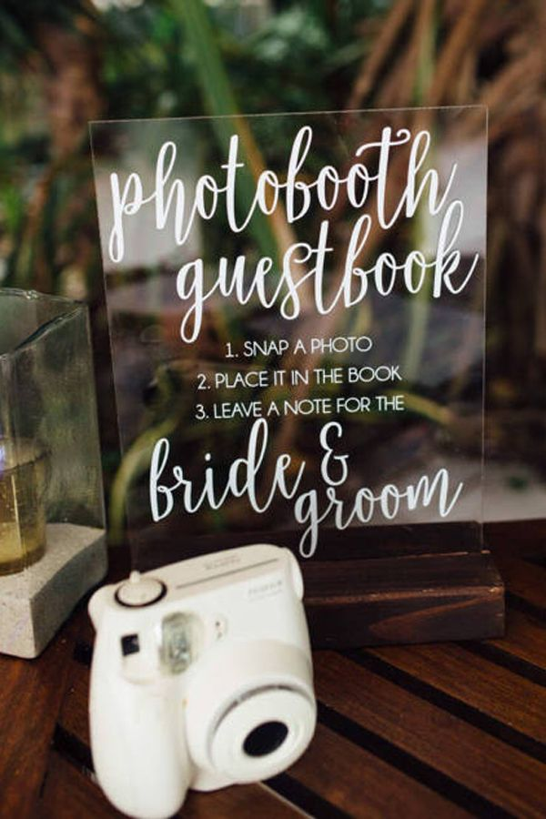 wedding guest book with photos