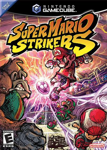 Super Mario Strikers on Nintendo Gamecube.