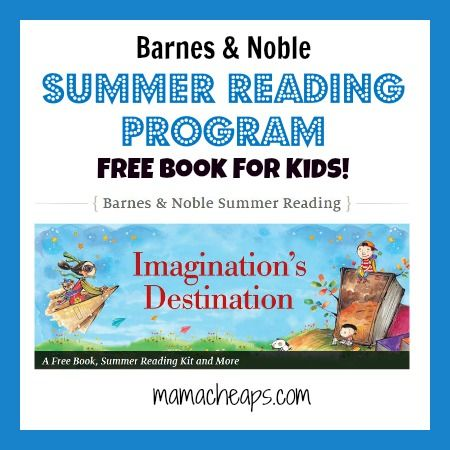 2015 Barnes and Noble Summer Reading Program: FREE Book for Kids - print out this journal and when your kid reads 8 books, turn in the journal for a FREE BOOK!  Open to grades 1-6.