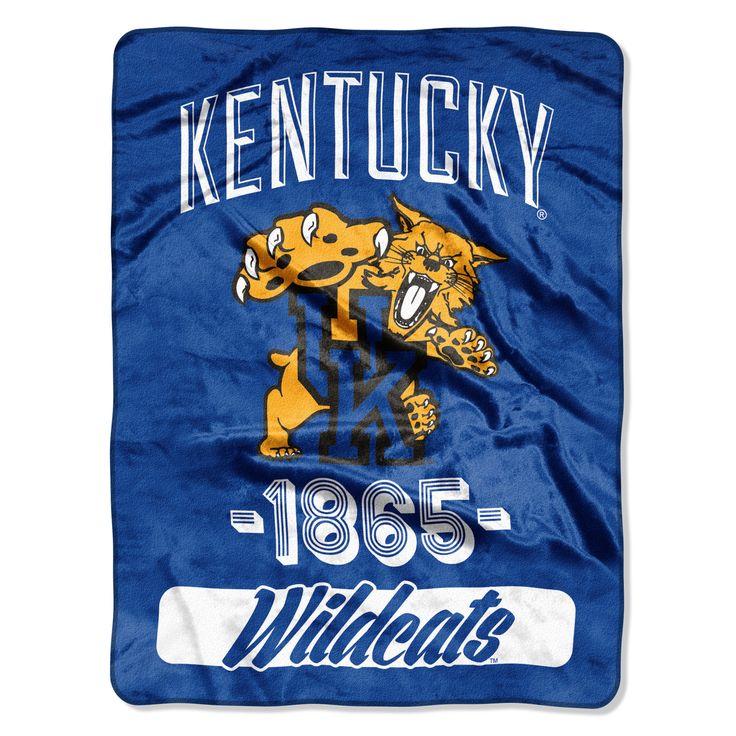 "Kentucky College """"Varsity"""" 46""""x60"""" Micro Raschel Throw"