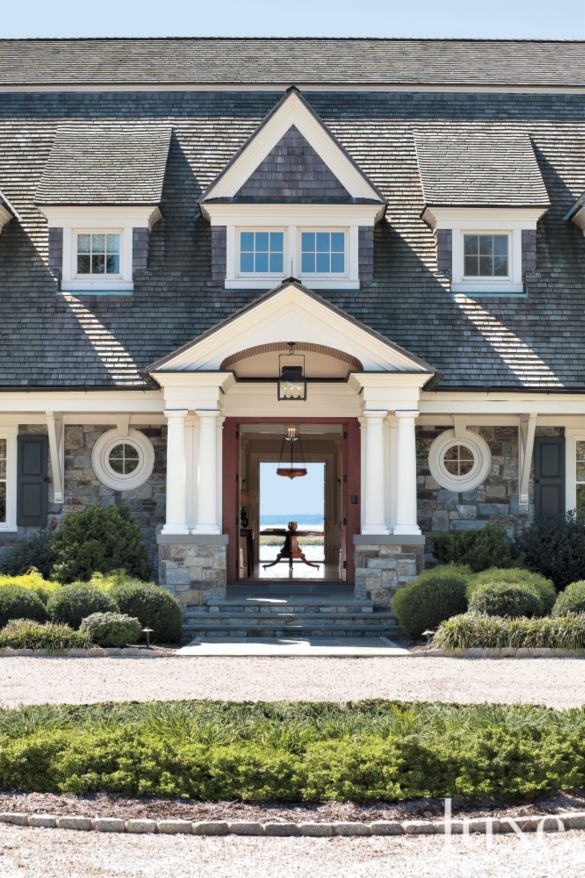 Renovated Cape Cod-Style Home | LuxeSource | Luxe Magazine Stone/Round Windows