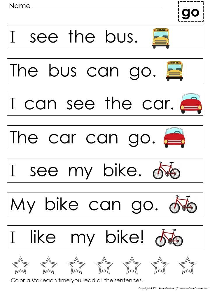 Kindergarten Sight Word Sentences and Games for Guided Reading