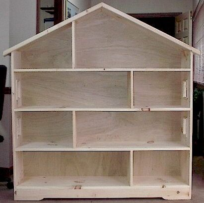 Simple wood doll house plans plans diy free download log for Diy basic bookshelf