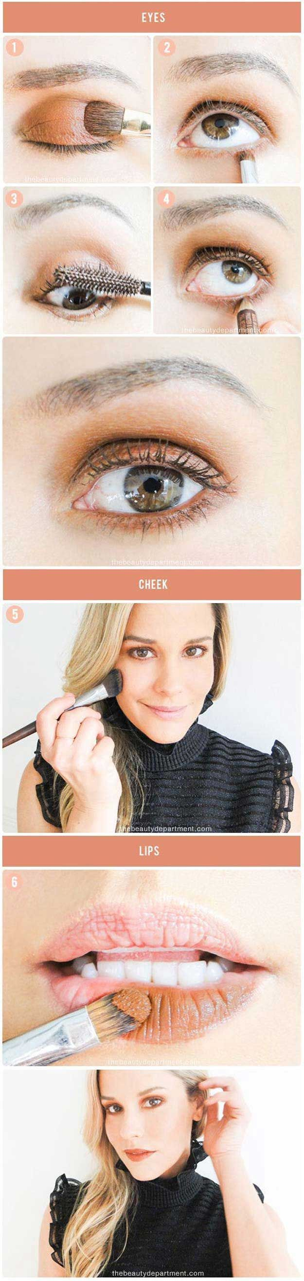 Makeup Tutorials for Picture Perfect Selfies - Monochromatic Makeup - Tips, Ideas, And Tricks For Makeup Tutorials For Pictures On Tumblr, Instagram, Pinterest, And Facebook. Try Step By Step Tutorials For Dark Lips, Natural Looks For Beauty In Blonde Hair, And How To Take A Beautiful Photo Or Photograph. Tips, Tricks, And Hacks For Different Faces, Brows, Hair, And Lashes For Selfies. Girls Need To Use Eyeliner To Get That Ariana Grande Or Kim Kardashian Look…