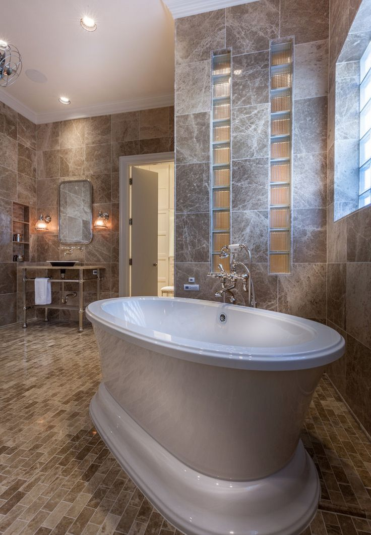 Meadowick   Mediterranean Design   Bathroom By Thompson Custom Homes   Amma  Oval 7242 Therapeutic #bathtub By @BainUltra. To Know More About The Tuu2026