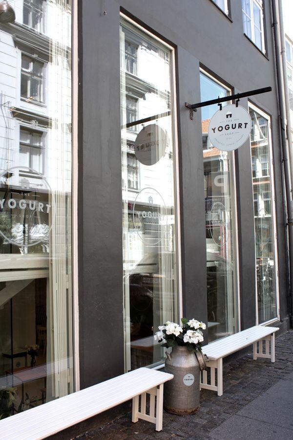 "shopfront | at cafe | ""the yogurt shop"" | copenhagen, denmark | by louise skafte"