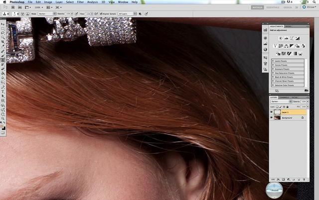Retouching Hair - Clone in Darken Mode by Natalia Taffarel. I'm going to be in London http://nataliataffarel.com/Workshop/