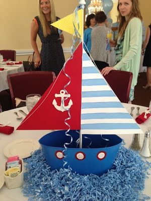 nautical baby shower - great idea for centerpiece.