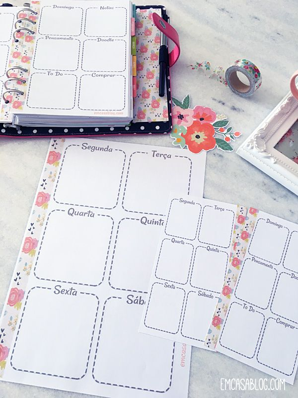 DOWNLOAD: PLANNER SEMANAL FLOWERS