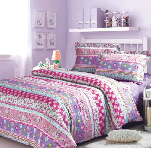 Angel In The Spring Duvet Cover Set Purple Girls Bedding