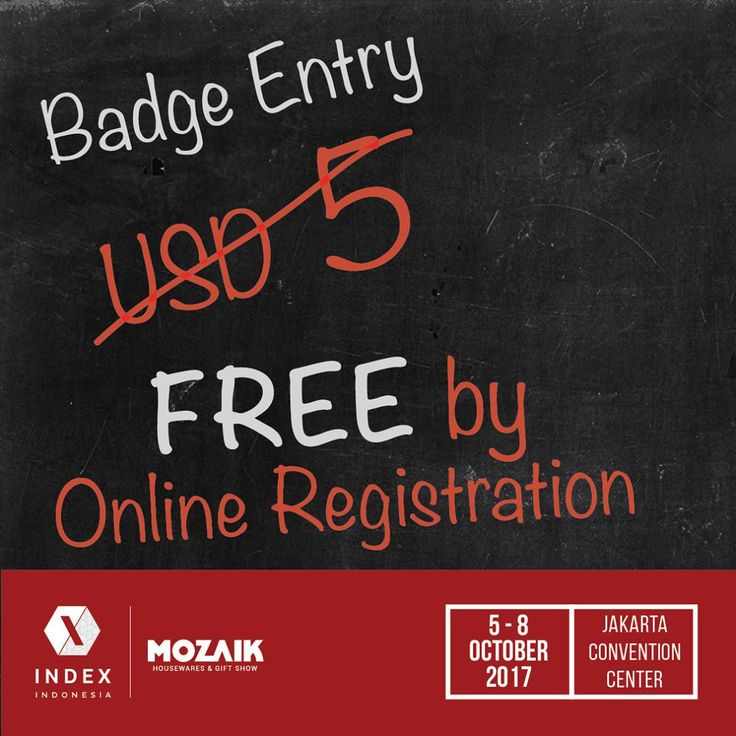 "HOTELIER INDONESIA on Instagram: ""Hello Hospitality & Design people! Get your FREE BADGE by online registration at www.indexmozaik.com  INDEX Indonesia 