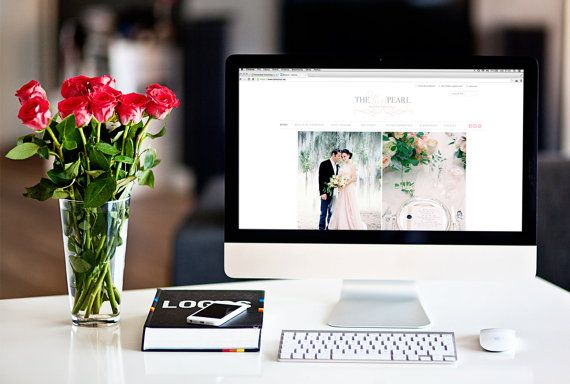 Custom Website Design With Portfolio And by HalftoneStudio on Etsy