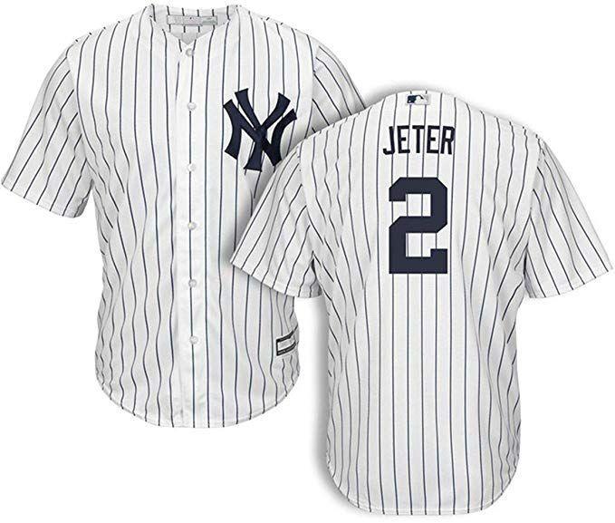 pretty nice de414 fca1e Amazon.com: Men's #2 Derek Jeter New York Yankees Home ...
