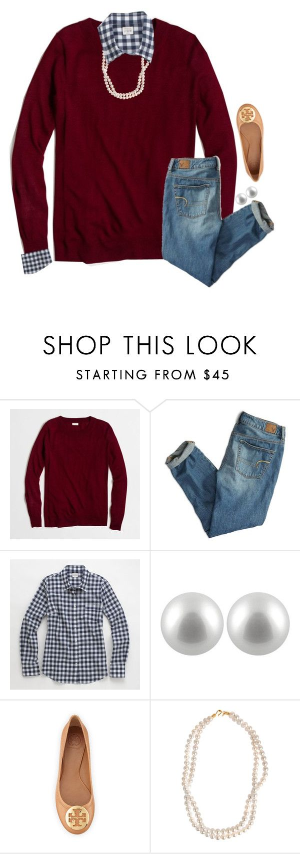 """Thanks for 700!!"" by preppy-ginger-girl ❤ liked on Polyvore featuring J.Crew, American Eagle Outfitters, Splendid Pearls, Tory Burch and STELLA McCARTNEY"