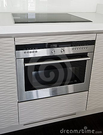 Modern electric stove and oven