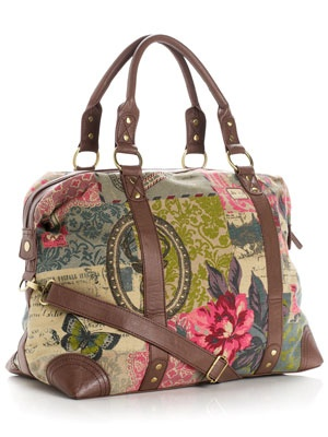 Heritage Antler Weekender by Monsoon...loved the Monsoon Accessorize when we were in London...embroidered bags were all the rage...this isn't the one I got but same colour palette:)