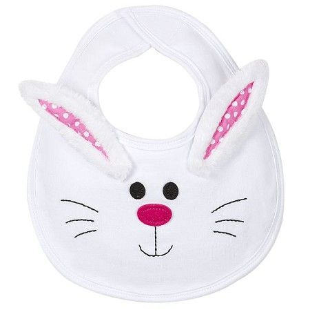 Bunny Bib: Easter Baby Bib for with Bunny Rabbit Face and Ears for Babies Size 0-6 Months. $9.99. #baby #Easter