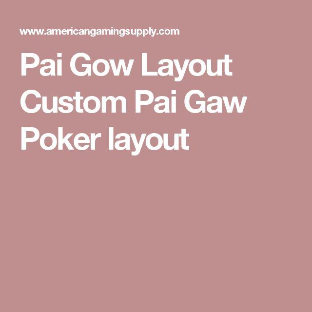 Pai Gow Layout Custom Pai Gaw Poker layout
