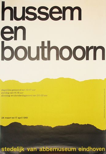 exhibition poster by Wim Crouwel (1961)