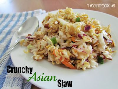 The Country Cook Crunchy Asian Slaw