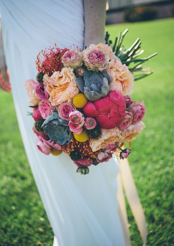 colorful bouquet | photo by Caleb John Hill Photography | 100 Layer Cake