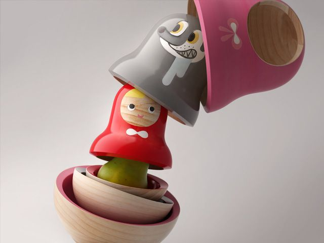 Little red hood – food container by Pistacchi Design