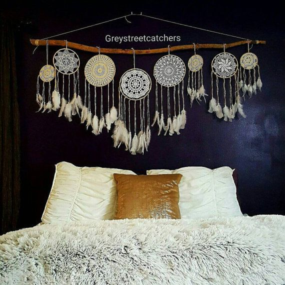 Check out this item in my Etsy shop https://www.etsy.com/listing/470620405/dreamcatcher-wall-hanging-set-of-7