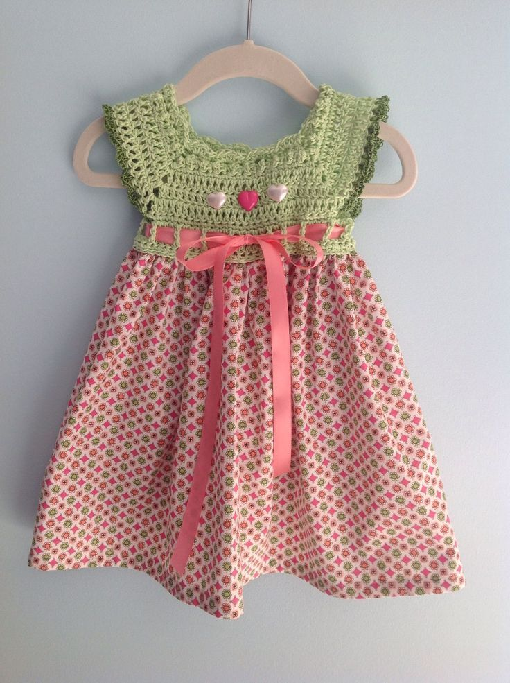 """bca8207db9c4074969e2862fd9d04a16.jpg 1,200×1,606 pixels [ """"And to make your search easy for the best crochet baby design we have already completed this task for you and brought these 24 crochet baby dress patter"""", """"Crochet baby dress - wish I could find the actual pattern. Maybe I could make it up, hmm."""", """"Crochet yolk baby dress , with fabric skirt"""", """" I really need to try making one of these… Baby Dress"""", """"A Friend Shawls & Mouse in the House Designs"""", """"SO pretty!"""" ] # # #..."""
