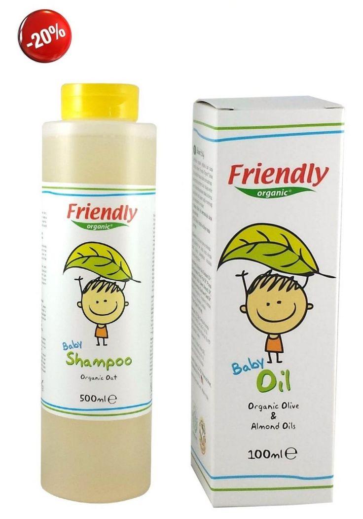Friendly Organic Bebek Şampuanı & Bebek Yağı