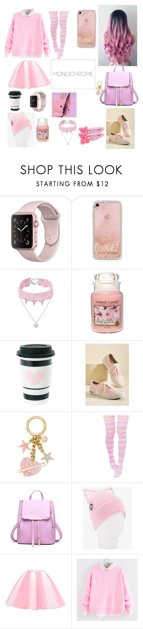 """Cutesy Pink"" by tekutokiariku230 ❤ liked on Polyvore featuring Rebecca Minkoff, Design Lab, Yankee Candle, SeaVees, Michael Kors, miim, Silver Spoon Attire and As Is"