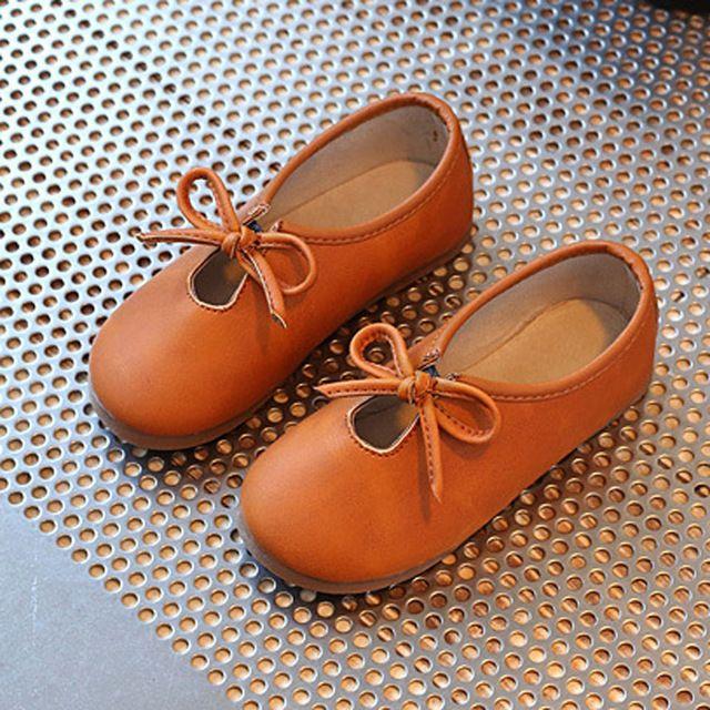 Vlinderdas Baby Meisjes Casual Schoenen Slip op Peuter Mocassins Europese Stijl kinderen Flats 2017 Herfst Kids Loafers Zapatos Ninas