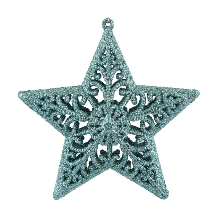 Luxury Christmas star ornament with ice blue glitter. This exquisite Christmas star ornament is the perfect Christmas decoration for your Christmas tree, the glitter gives this beautiful Christmas star a luxurious look | It's all about Christmas
