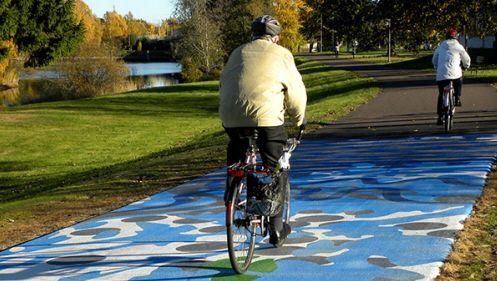 Konst på cykelväg