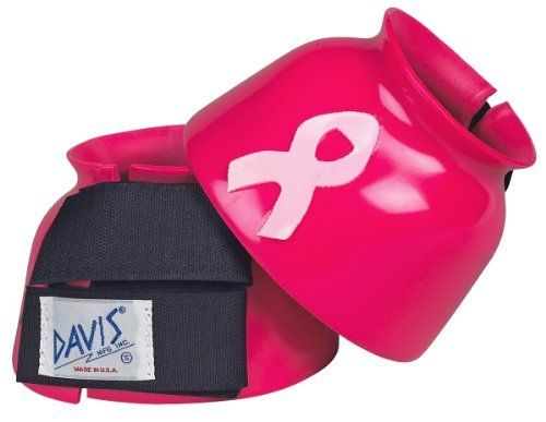 Davis Bell Boots - Hot Pink by Davis Manufacturing. $19.95. Made of heavy duty PVC, these boots are very durable and long wearing. The double hook-and-loop closure keeps the bell boots secure.