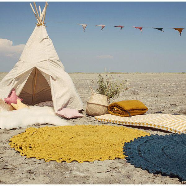 Le tapis Varanassi apportera une touche très déco dans la chambre de votre enfant.