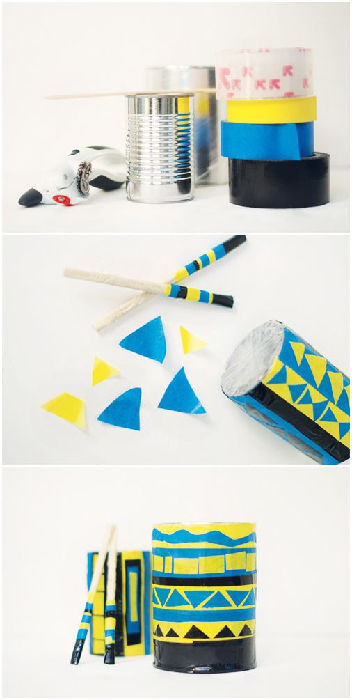 Save your pots and pans for cooking and give your toddler this DIY Packing Tape Drum to bang on instead. Much more colorful and a lot less clang-y, this simple craft is an easy way to keep your toddler and baby occupied on rainy spring days. Pro tip: decorate the drum with your kiddos' favorite colors to make it even more appealing.