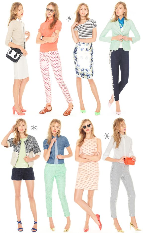 Warm Weather J.Crew Looks : simple, cute work outfits