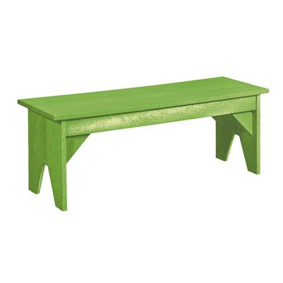 Bay Isle Home Trinidad Plastic Park Bench Color: Kiwi Green