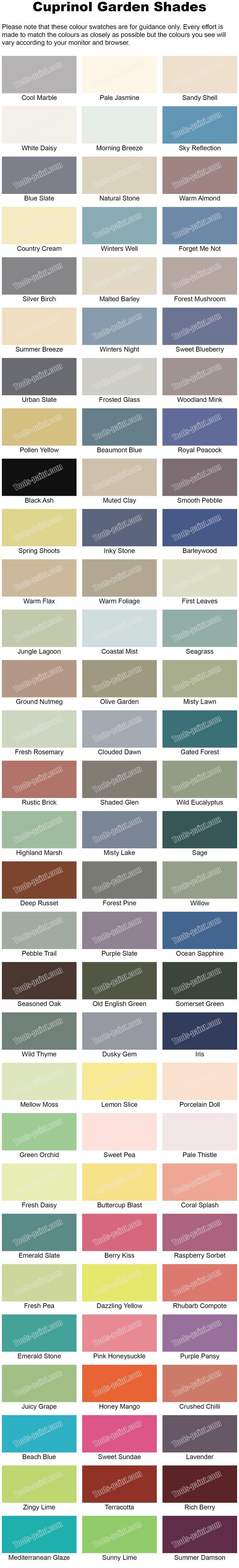 Leyland paints colour chart - Paint Colour Charts