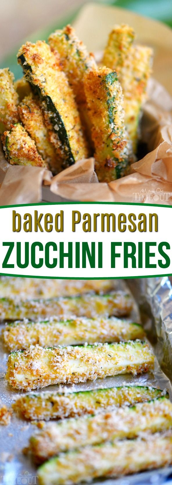 ***Baked Parmesan Zucchini Fries ~ are loaded with flavor and baked to golden perfection! The perfect way to use up your summer bounty!