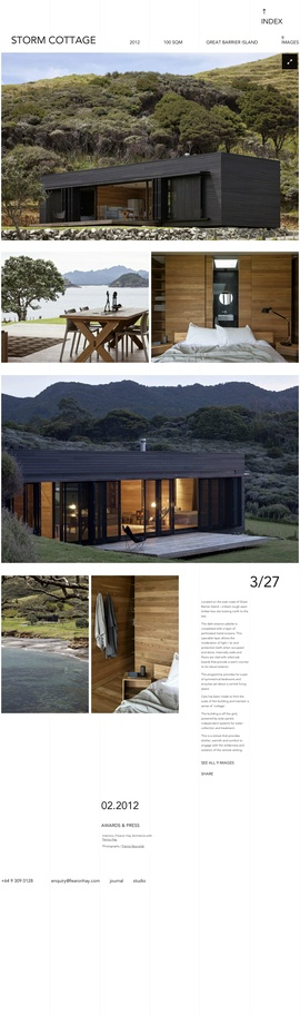 Located on the east coast of Great Barrier Island – a black rough sawn timber box sits looking north to the sea. By Fearon Hay Architects, photos by Patrick Reynolds.