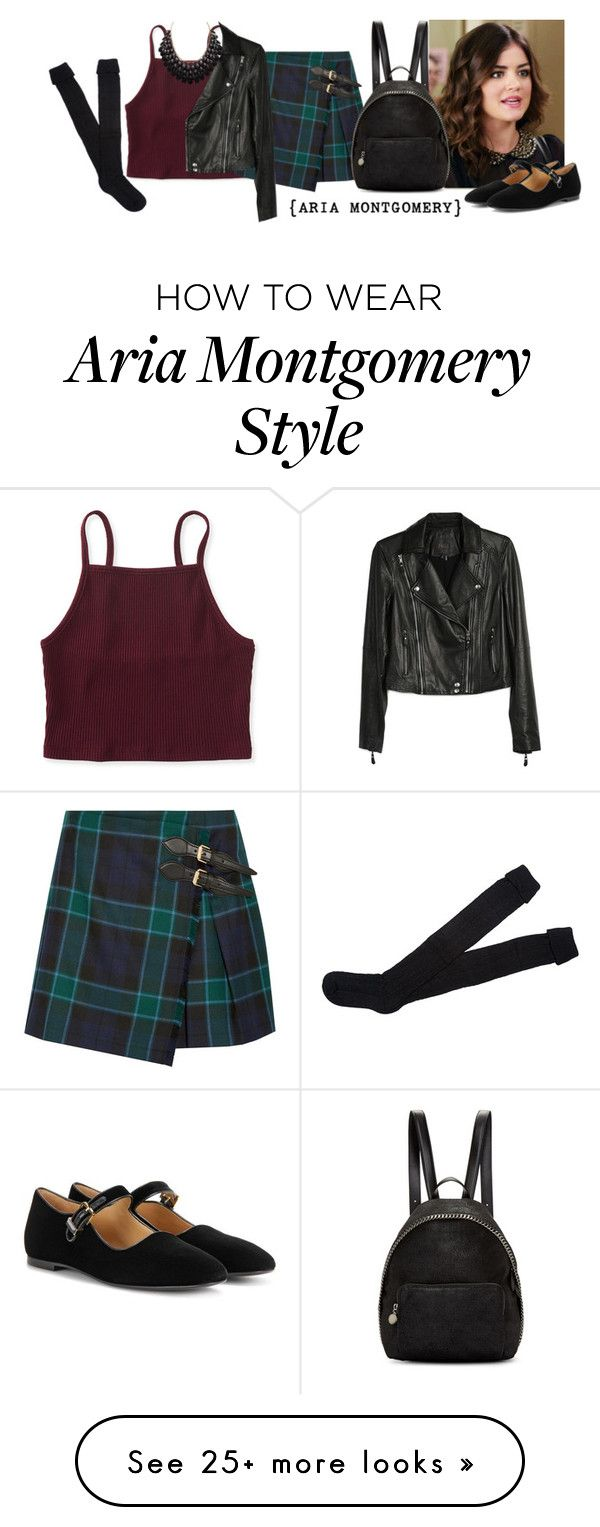 """Aria Montgomery Style"" by guest114 on Polyvore featuring Aéropostale, Reyes, Burberry, STELLA McCARTNEY, Paige Denim, The Row, Adoriana, PrettyLittleLiars, pll and ariamontgomery"