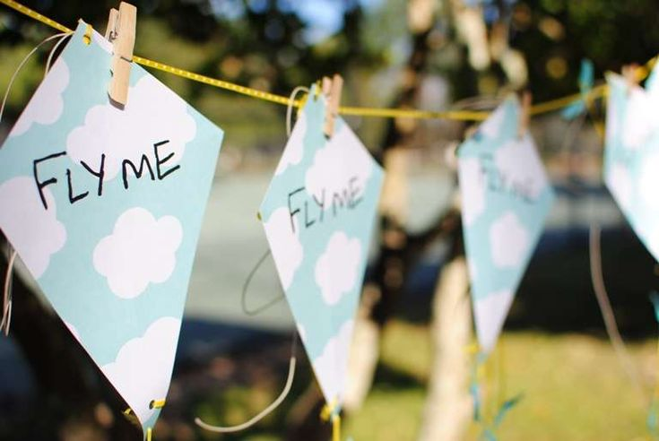 Kite Themed Party Birthday Party Ideas | Photo 23 of 30 | Catch My Party