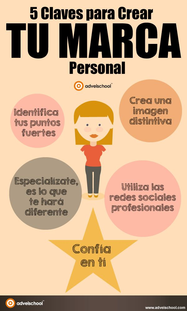 5 claves para crear tu Marca Personal #infografia #infografia #marketing